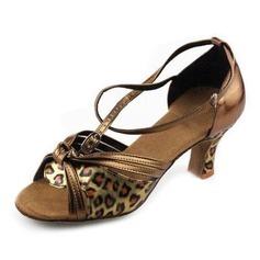 Kvinder Kunstlæder Hæle sandaler Latin med Sløjfe Dansesko (053013011)