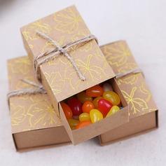 Creativo/Stile classico Cuboide Carta della carta Scatole e contenitori di favore (Set di 50) (050203405)