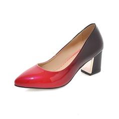 Naisten Keinonahasta Chunky heel Avokkaat Suljettu toe jossa Muut kengät (085102873)