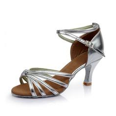 Donna Similpelle Tacchi Sandalo Latino con Listino alla caviglia Scarpe da ballo (053053101)