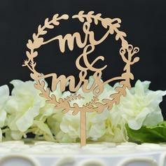 Mr & Mrs/Amore è dolce Legno Decorazioni per torte (119157013)