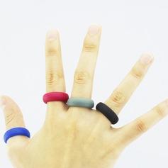 Modern Silikone Fashionable Resin Fashion Rings Gaver (129140569)