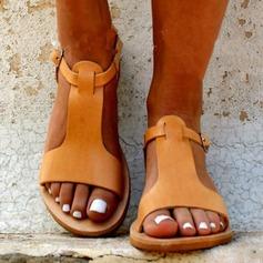 Donna Similpelle Senza tacco Sandalo Ballerine con Cava-out scarpe (087171532)