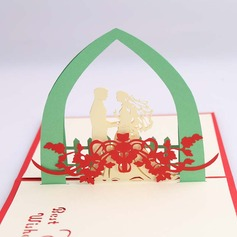 Three-dimensional Happy Wedding Greeting Cards (114059160)