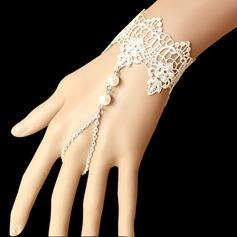 Non-personaliseret Moderigtigt Pearl Lace Smykke Sæt (129061246)
