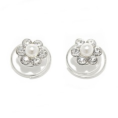 Lovely Alloy/Pearls Hairpins (Set of 2) (042055970)