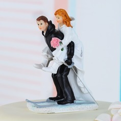 Sports Couple Resin Wedding Cake Topper (122036189)