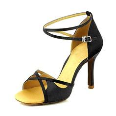 Donna Camoscio Tacchi Sandalo Stiletto Latino Scarpe da ballo (053095735)