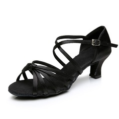 Women's Satin Heels Sandals Latin Dance Shoes (053006987)