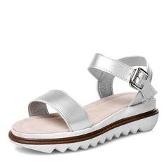Donna Similpelle Senza tacco Sandalo con Fibbia scarpe (087171531)