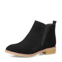 Frauen PU Flascher Absatz Flache Schuhe Stiefel Schuhe (088136941)