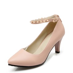 Donna Similpelle Tacco a spillo Stiletto Punta chiusa con Perline scarpe (085153090)