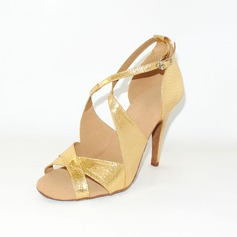 Women's Leatherette Heels Sandals Latin Dance Shoes (053012962)