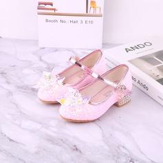 Fille de bout rond Bout fermé similicuir Chaussures de fille de fleur avec Bowknot (207200914)