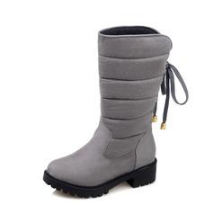 Frauen Wildleder Stämmiger Absatz Stiefelette mit Schnalle Reißverschluss Quaste Schuhe (088097362)