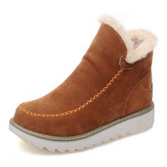 Große Größen-reine Farben-warme Pelz-Futter-Winter-Knöchel-Schnee-Aufladungen für Frauen (088146778)
