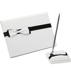 Simple Bow Guestbook & Pen Set (101018177)