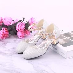 Fille de bout rond Bout fermé similicuir Chaussures de fille de fleur (207200908)