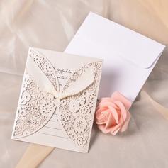 Classic Style Gate-Fold Invitation Cards mit Bänder (Satz 10) (118040263)
