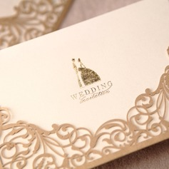Bride & Groom tyyli Wrap & Pocket Invitation Cards (Sarja 50) (114024220)