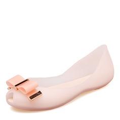 Donna PVC Ballerine Punta aperta con Bowknot scarpe (086165233)