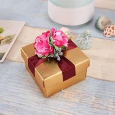 Design de fleur Cuboïd Boîtes cadeaux avec Fleur(s) (Lot de 12) (050096014)