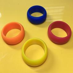 Modern Silikone Fashionable Resin Fashion Rings Gaver (129140565)
