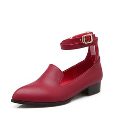 Donna Similpelle Tacco basso Stiletto Punta chiusa con Fibbia Altrui scarpe (085153091)