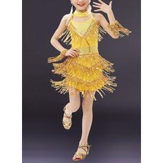Per bambini Abbigliamento danza Dello spandex Ballo latino Abiti (115168409)