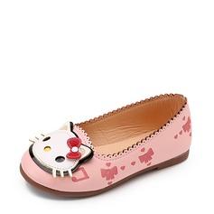 Mädchens Geschlossene Zehe Leder Flache Ferse Flache Schuhe Blumenmädchen Schuhe mit Tierdruckmuster (207112607)