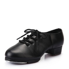 Women's Leatherette Heels Tap With Lace-up Dance Shoes (053041984)