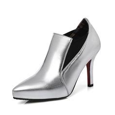 Женщины кожа Высокий тонкий каблук Полусапоги обувь (088091714)