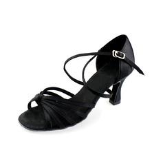 Vrouwen Satijn Hakken Sandalen Latijn Ballroom Dansschoenen (053006987)