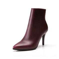 Femmes Similicuir Talon stiletto Escarpins Bottines avec Zip chaussures (088057400)