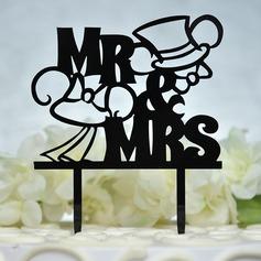 Mr & Mrs Acrilico Decorazioni per torte (119156960)