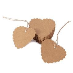 A forma di cuore A forma di cuore/Disegno del cuore Kraft Paper tag (Set di 100) (051166364)