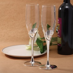 Heart design Lead-free Glass Toasting Flutes (Set Of 2) (126032351)