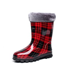 Frauen PVC Keil Absatz Stiefel Stiefel-Wadenlang Regenstiefel mit Andere Schuhe (088127042)