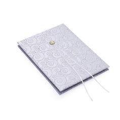 Sølv Scroll Imiteret Pearl Gæstebog (101018216)