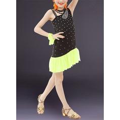 Per bambini Abbigliamento danza Dello spandex Ballo latino Abiti (115168412)