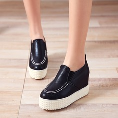 Women's Leatherette Wedge Heel Closed Toe Wedges With Others shoes (086119383)