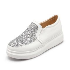 Vrouwen Kunstleer Flat Heel Flats Closed Toe schoenen (086089828)