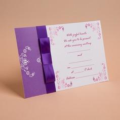 klassisk stil Enkla kort Invitation Cards med Färgband (Sats om 50) (114030723)