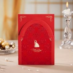 Bride & Groom Stile Fold Top Invitation Cards (Set di 50) (114042255)