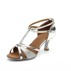 Donna Similpelle Glitter scintillanti Tacchi Sandalo Latino con Con Listino a T Listino alla caviglia Scarpe da ballo (053063277)