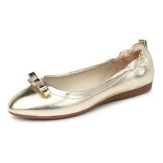 Kvinner Lær Flat Hæl Flate sko Lukket Tå sko (086092181)