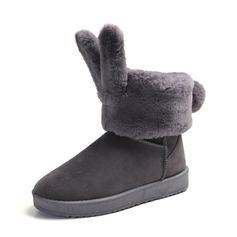 Frauen Veloursleder Keil Absatz Plateauschuh Keile Stiefel Stiefel-Wadenlang Schneestiefel mit Pelz Schuhe (088144449)
