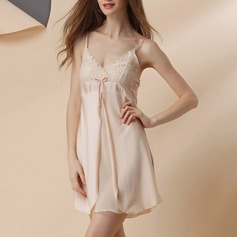 Polyester/Artificial Silk Bridal/Feminine/Fashion Sleepwear (041120780)