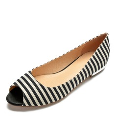 Donna Tessuto Senza tacco Ballerine scarpe (086175380)