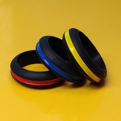 Modern Silikone Fashionable Resin Fashion Rings Gaver (129140564)